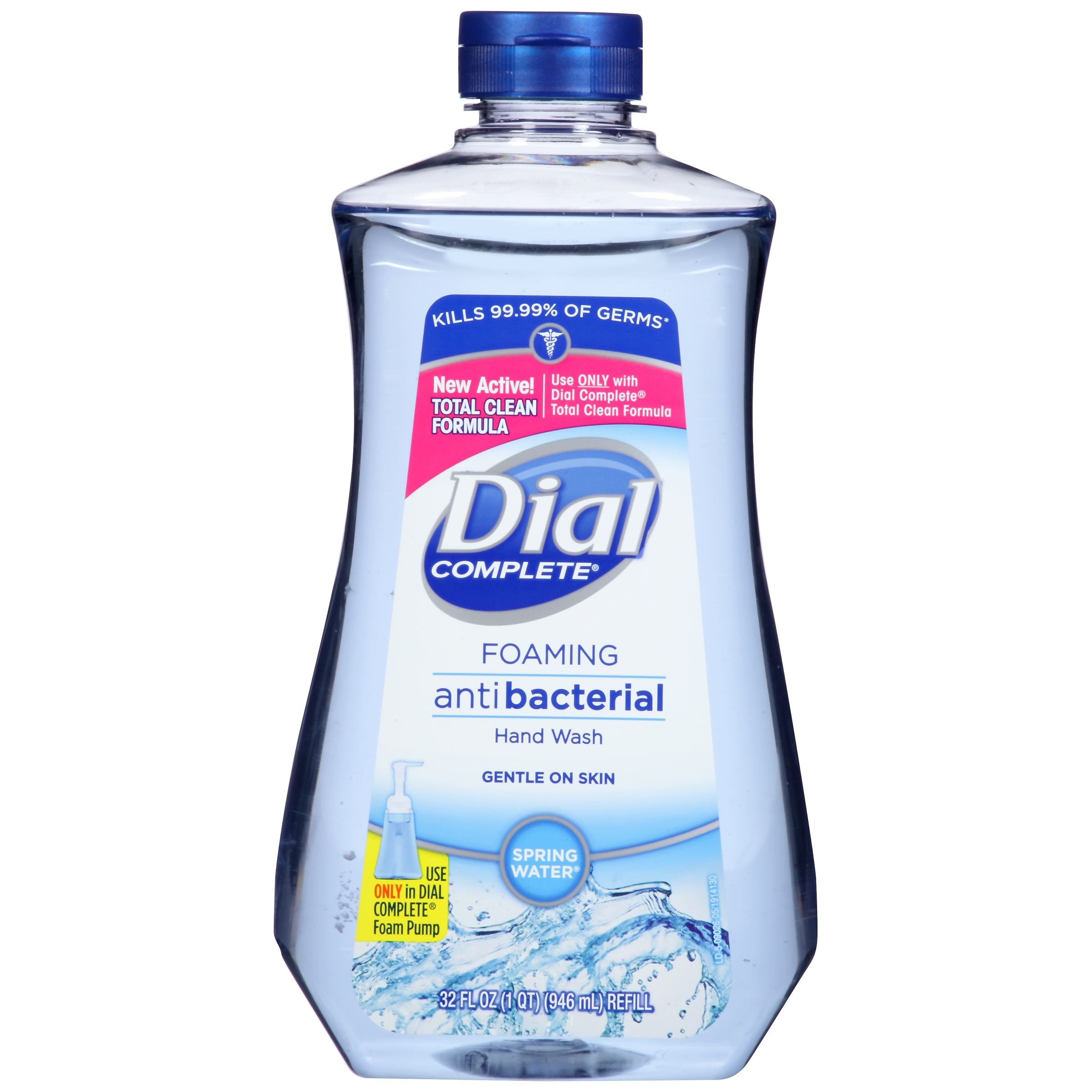 (2 pack) Dial Complete Antibacterial Foaming Hand Wash Refill, Spring Water, 32 Oz
