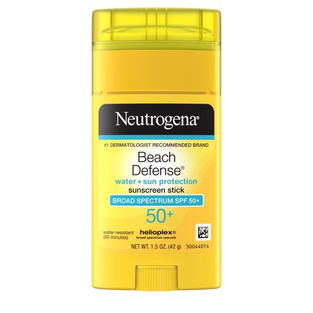 Neutrogena Beach Defense Oil-Free Sunscreen Stick SPF 50+, 1.5 oz