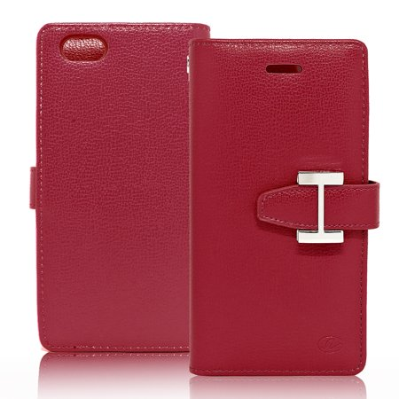 IPhone 6 / 6S Luxury Leather Wallet Pouch Case Cover (Sony Ericsson Luxury Pouch Case)