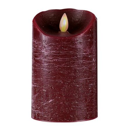 Forever Flame Flameless Burgundy Distressed Candle