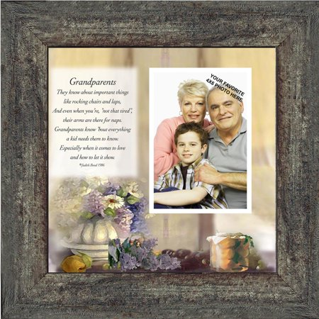 Grandma Grandpa Frame (Grandparents,  Gift from Grandma or Grandpa, Personalized Picture Frame, 10X10 6705 )