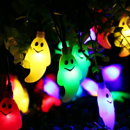 christmas solar string lights outdoor string lights 30 led ghost solar lamp waterproof light for garden