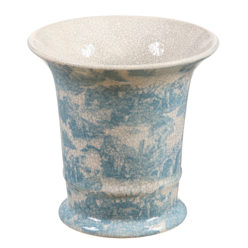 Winward Silks French Toile Round Terracotta Pot Planter