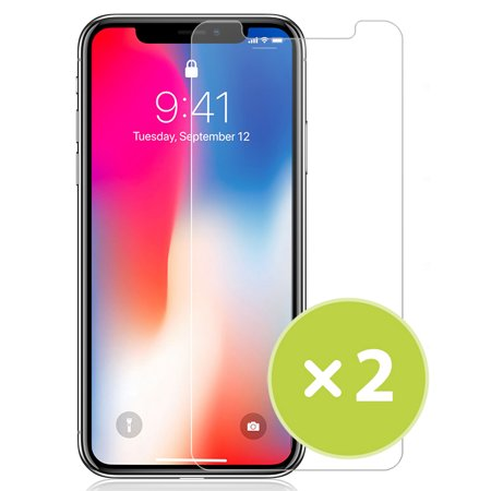 iPhone 11 Tempered Glass, 2x Nakedcellphone 9H Hard Clear Screen Protector Guard [Scratch/Crack Saver] for Apple iPhone 11 (2019, 6.1