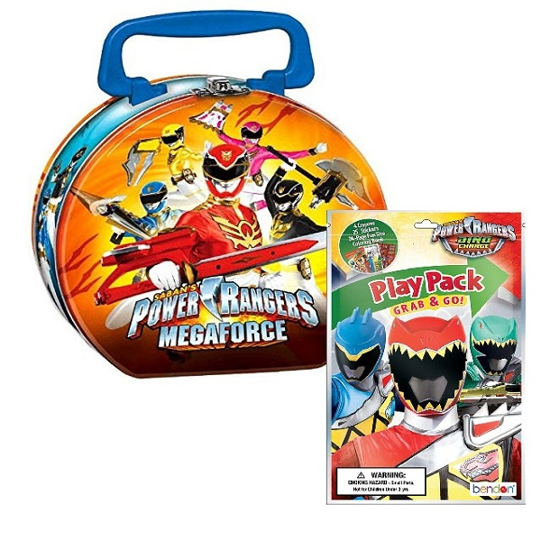 Power Rangers MegaForce Round Tin with Play Pack by Designware