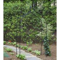Gardman 7' Gothic Steel Garden Arbor - Black