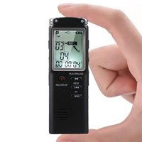 32GB/16GB Digital Voice Activated Recorder for Lectures, EEEkit 12Hours Sound Audio Recorder Dictaphone Voice Activated Recorder Recording Device with Playback, Microphone, Earphone, Phone Cable,etc
