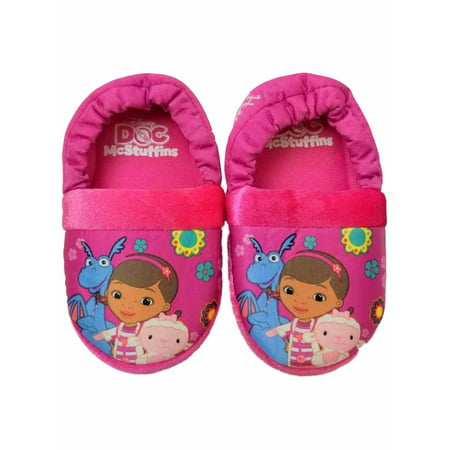Disney Doc McStuffins Pink Toddler Girls Slippers Loafer House Shoes - Doc Mcstuffin Shoes For Toddlers