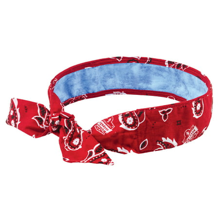 Chill-Its 6700CT Evaporative Cooling Bandana with Cooling Towel - Tie Closure, Red Western](Western Bandanas)