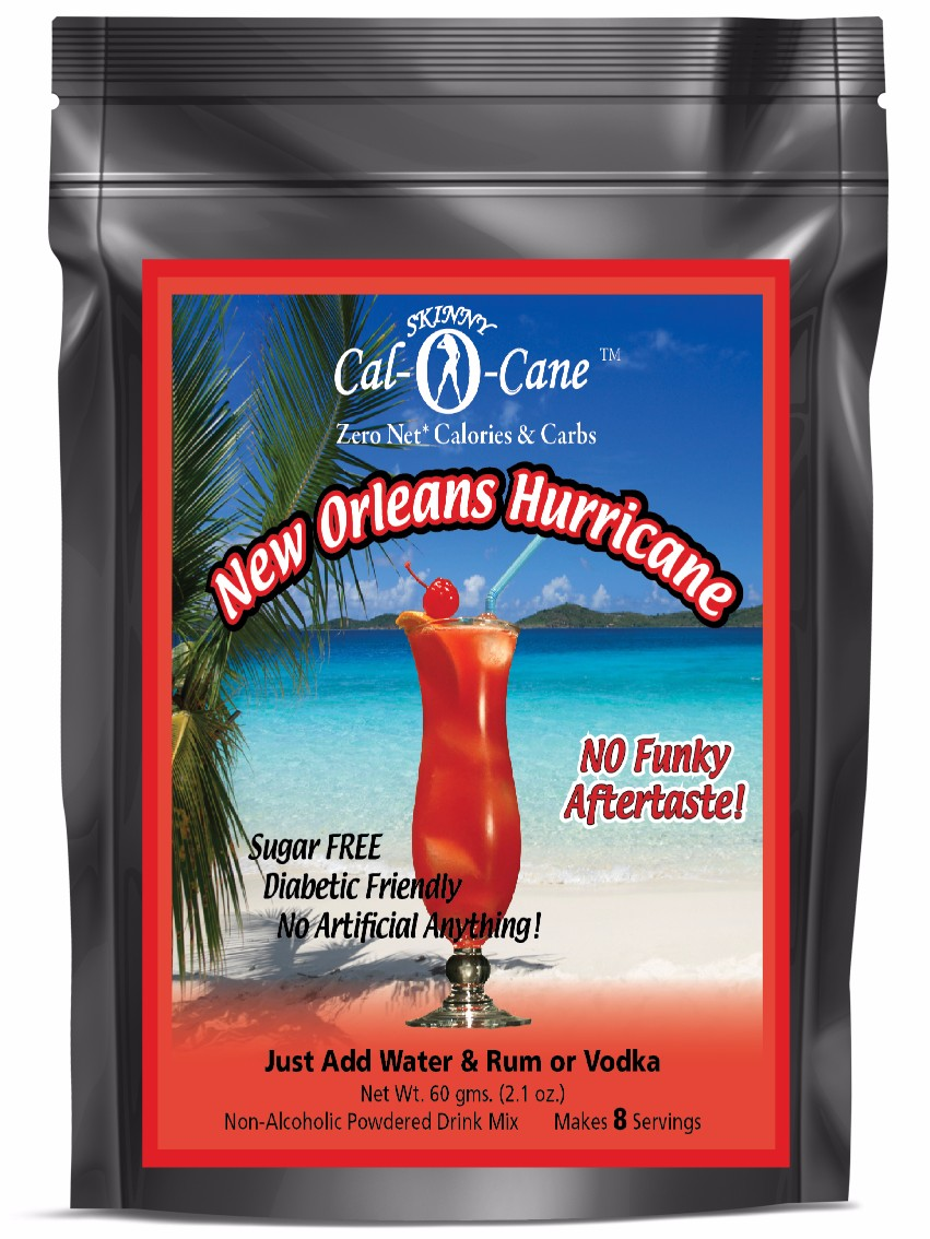 Skinny Cal-O-Cane (TM) Zero Calorie All Natural New Orleans Hurricane Cocktail Mix by Private Label