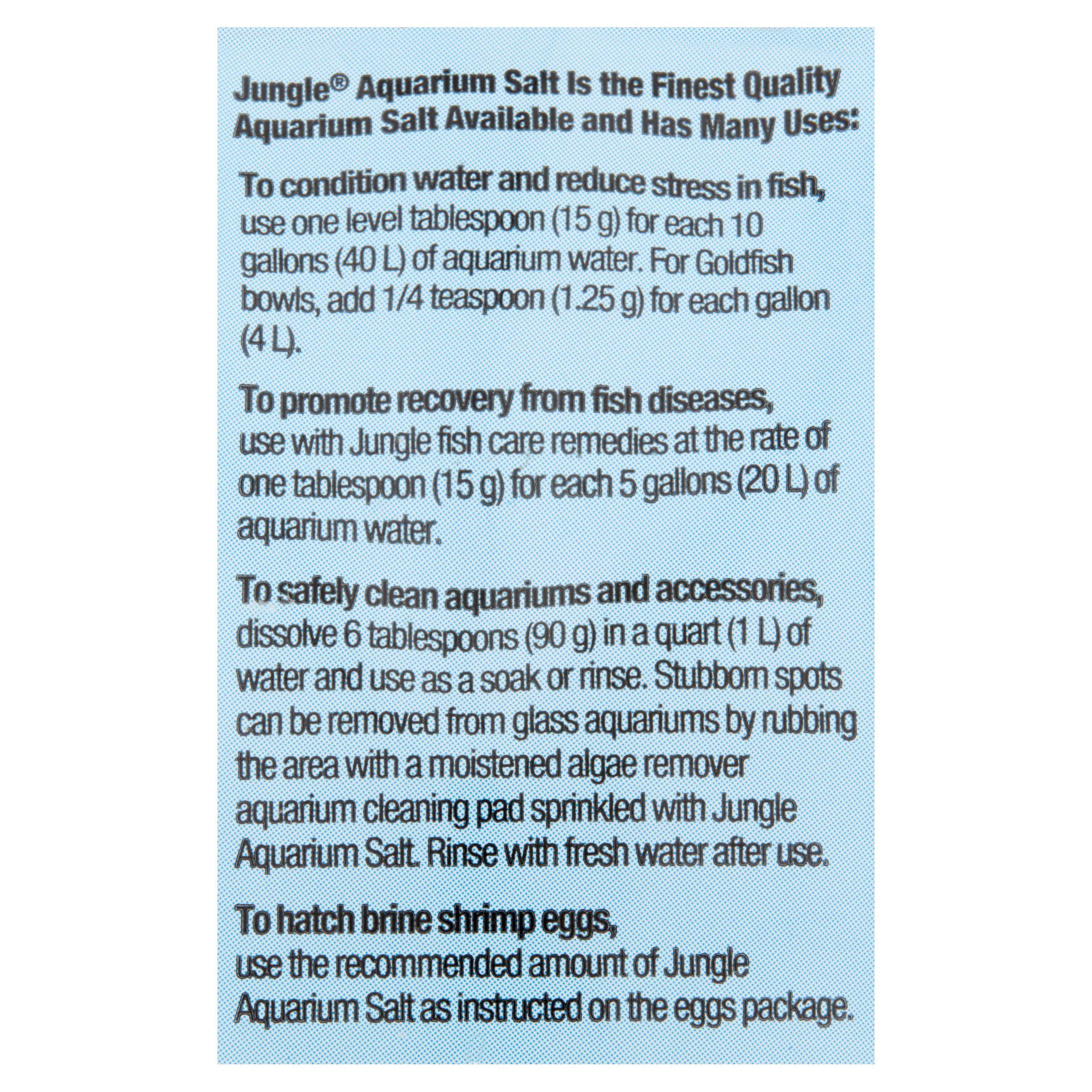 Jungle Aquarium Salt for Tropical Fish & Goldfish 16 Ounces