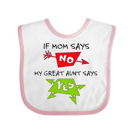 If Mom Says No, My Great Aunt Says Yes Baby Bib