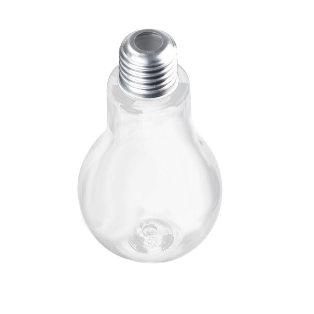 Plastic Bulb Juice Bottle Brief Fashion Milk Juice Light Bulbs Cup Leak-proof