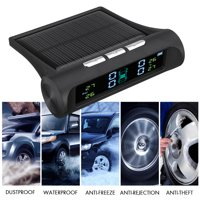 Car Wireless TPMS, Tire Pressure Monitor System Solar Power + 4 External Sensors
