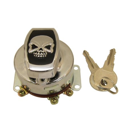 Fat Bob Ignition Switch with 6 Terminals,for Harley Davidson,by V-Twin - Harley Davidson Ignition Switch
