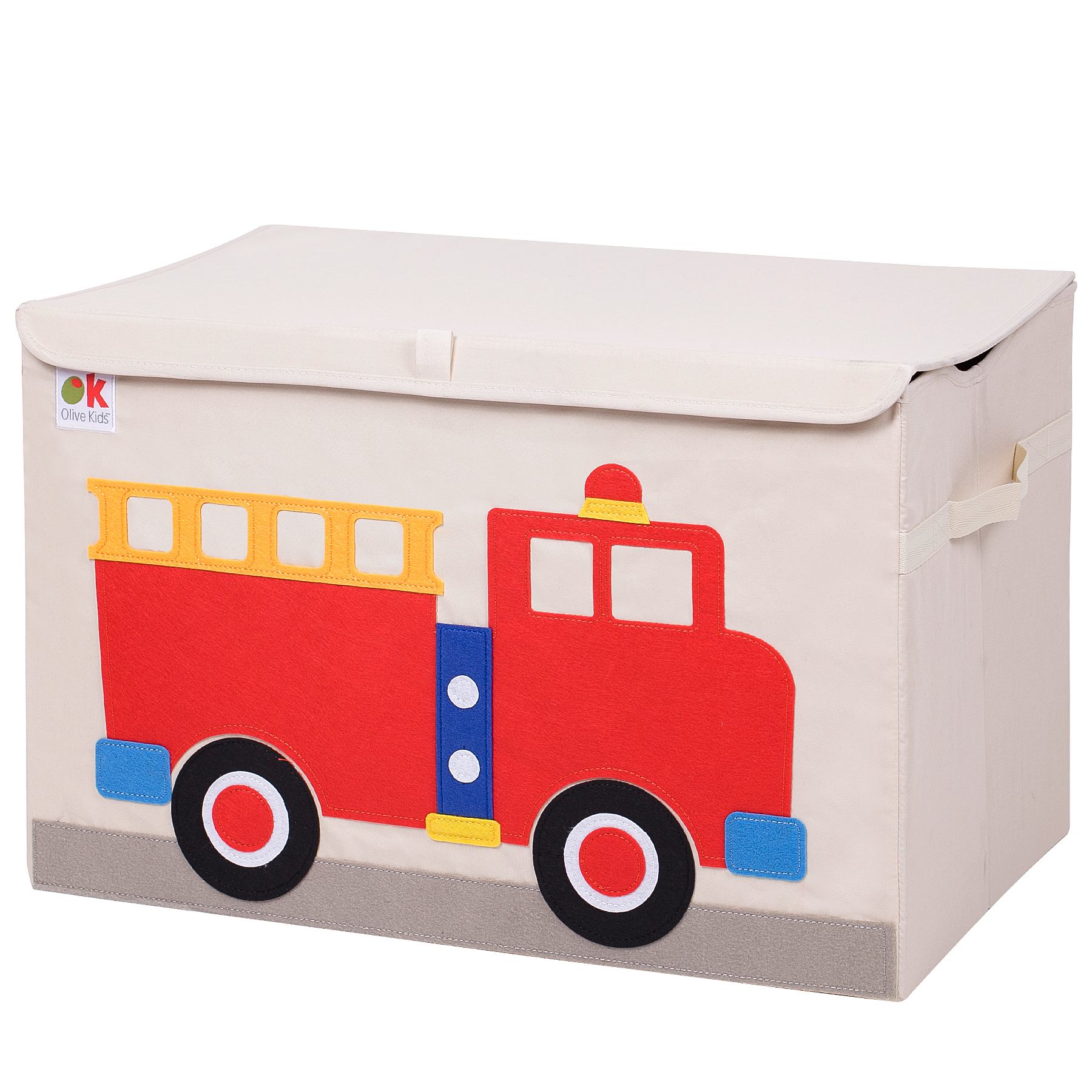 Olive Kids Fire Truck Toy Chest