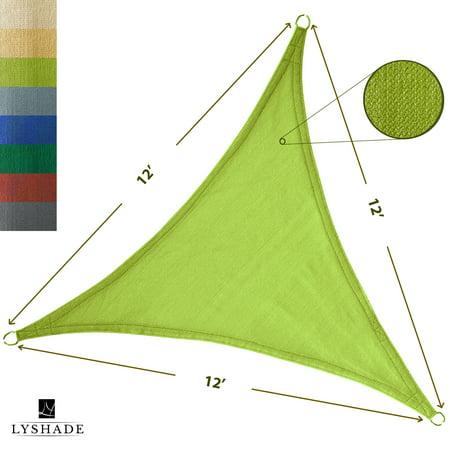 LyShade 12' x 12' x 12' Triangle Sun Shade Sail Canopy - UV Block for Patio and Outdoor ()