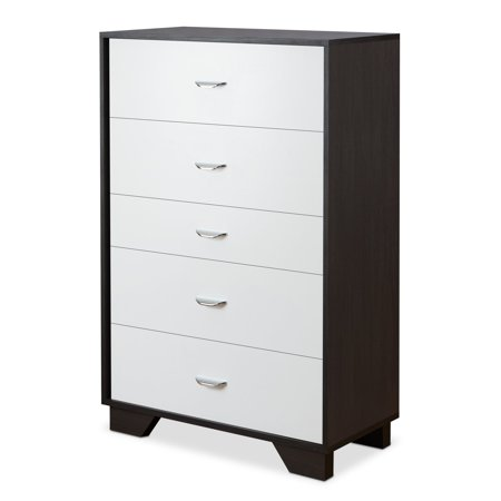 Acme Furniture Eloy White Espresso Chest With Five Drawers