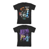 Roblox Boys Knights & Fighters Graphic T-Shirts 2-Pack, Sizes 4-18