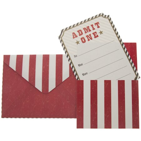 Red and White Admit One Invitations Party Supplies Decoration Special Events 10 Count](Special Event Invitations)