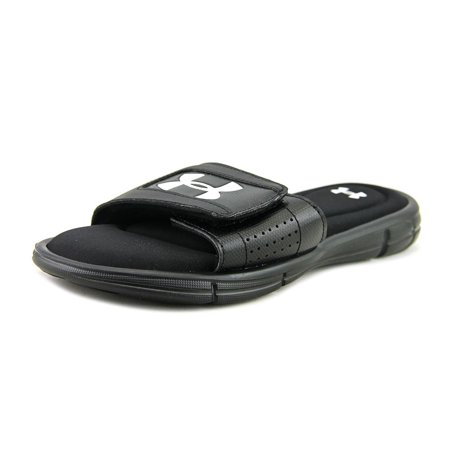 Under Armour B Ignite V Sl Youth  Open Toe Synthetic Black Slides Sandal (Under Armour Slide Sandals Youth)