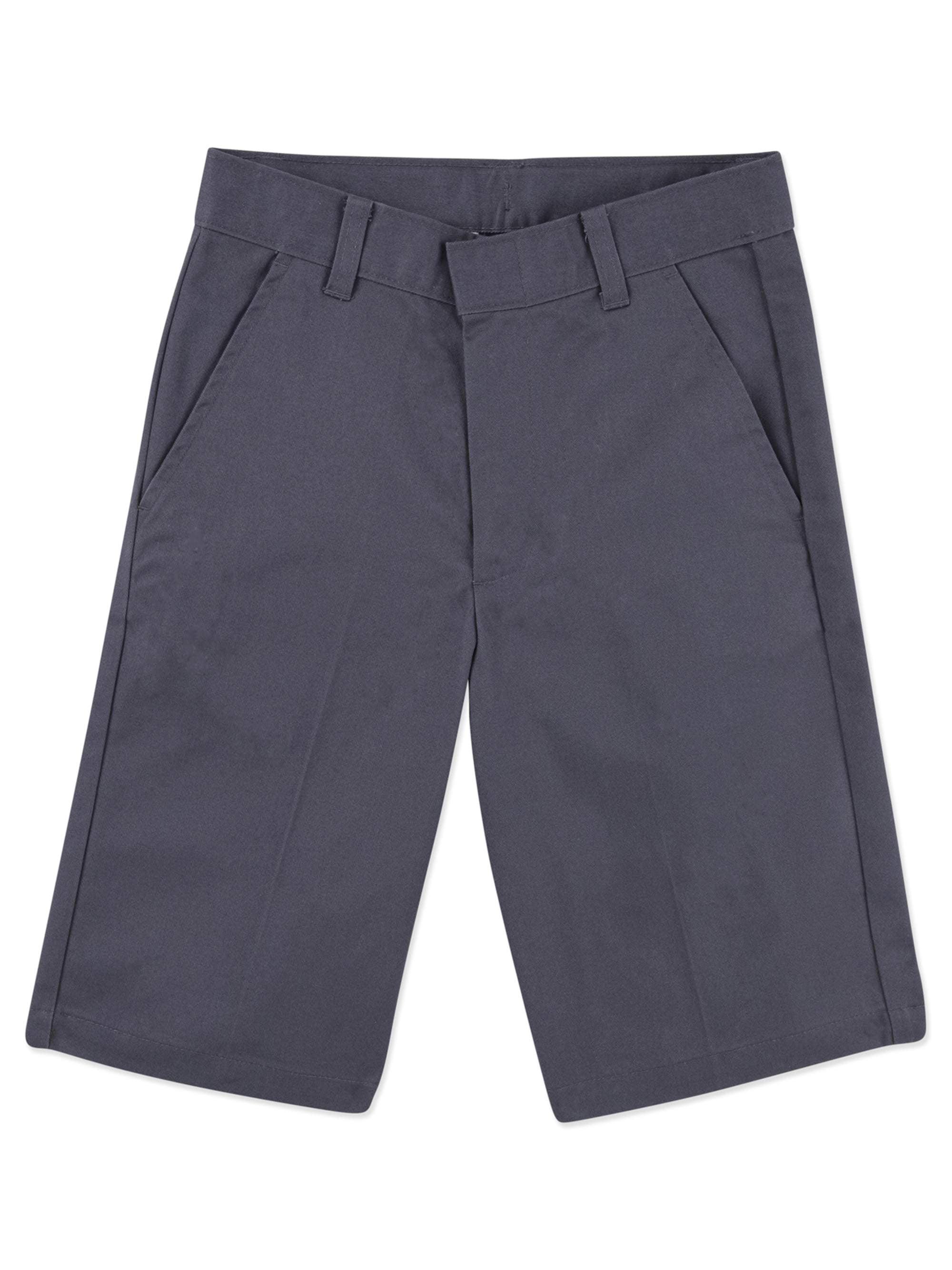 Boys School Uniforms Wrinkle Resistant Prep Flat Front Shorts Size 18-22