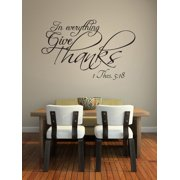 In Everything Give Thanks Vinyl Wall Decal Quotes Home Sticker Decor