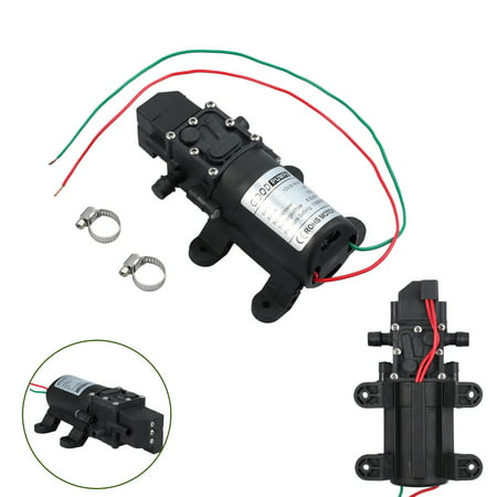 ESYNIC Micro Diaphragm High Pressure Water Pump Automatic Switch 130PSI DC 12V 6L/m (Water Pressure Sump Pump)