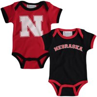 Nebraska Cornhuskers Newborn & Infant 2-Pack Bodysuit Set - Scarlet/Black