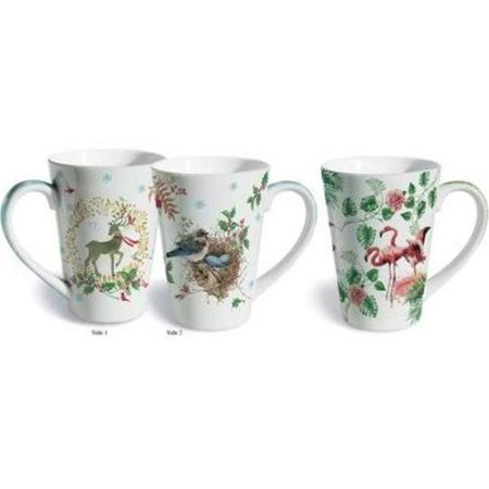lissom design 2 piece holiday cheer fine porcelain gift mug set