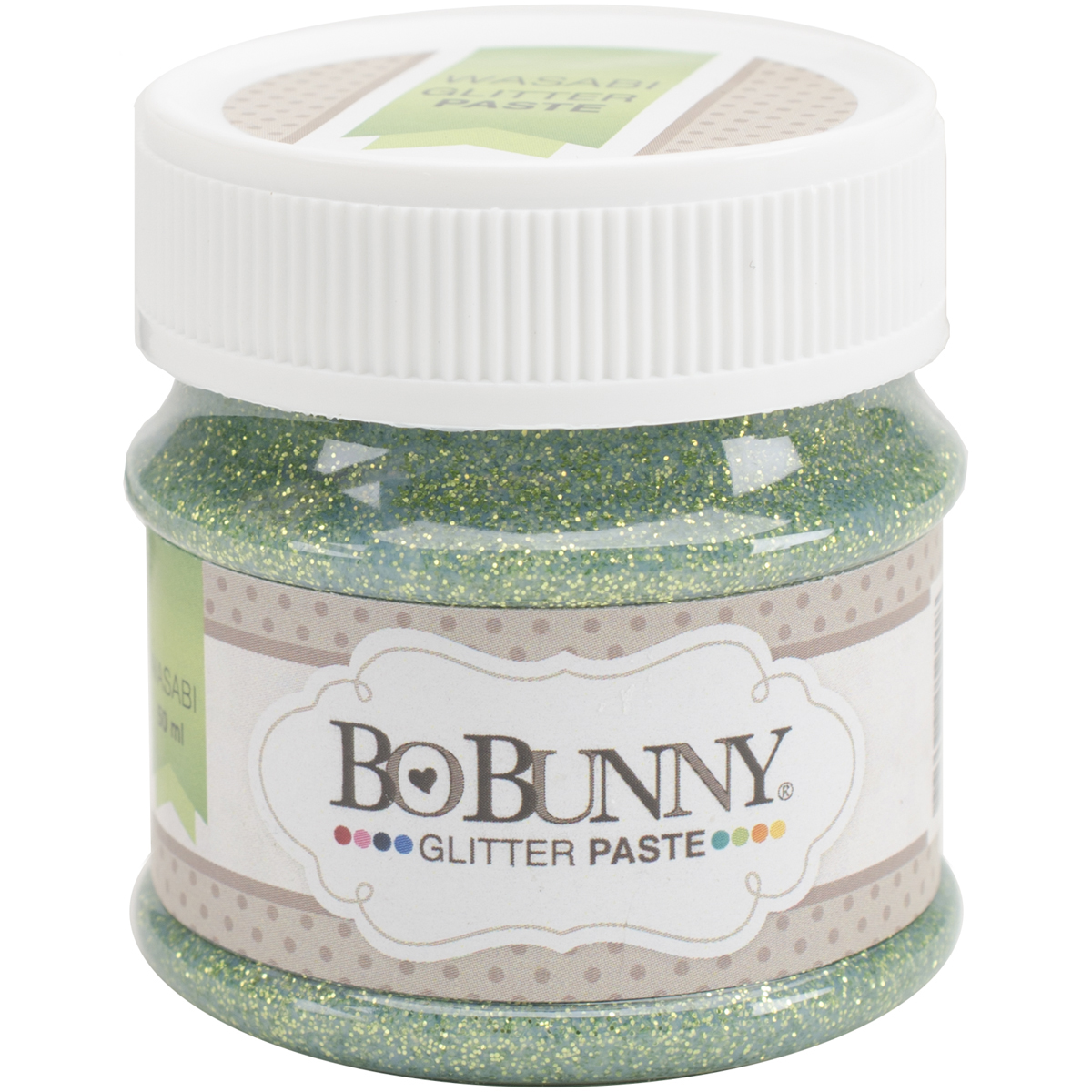 BoBunny Double Dot Glitter Paste 50ml-Wasabi