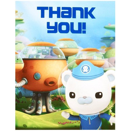 Octonauts Party Supplies 8 Pack Thank You - Octonaut Costume