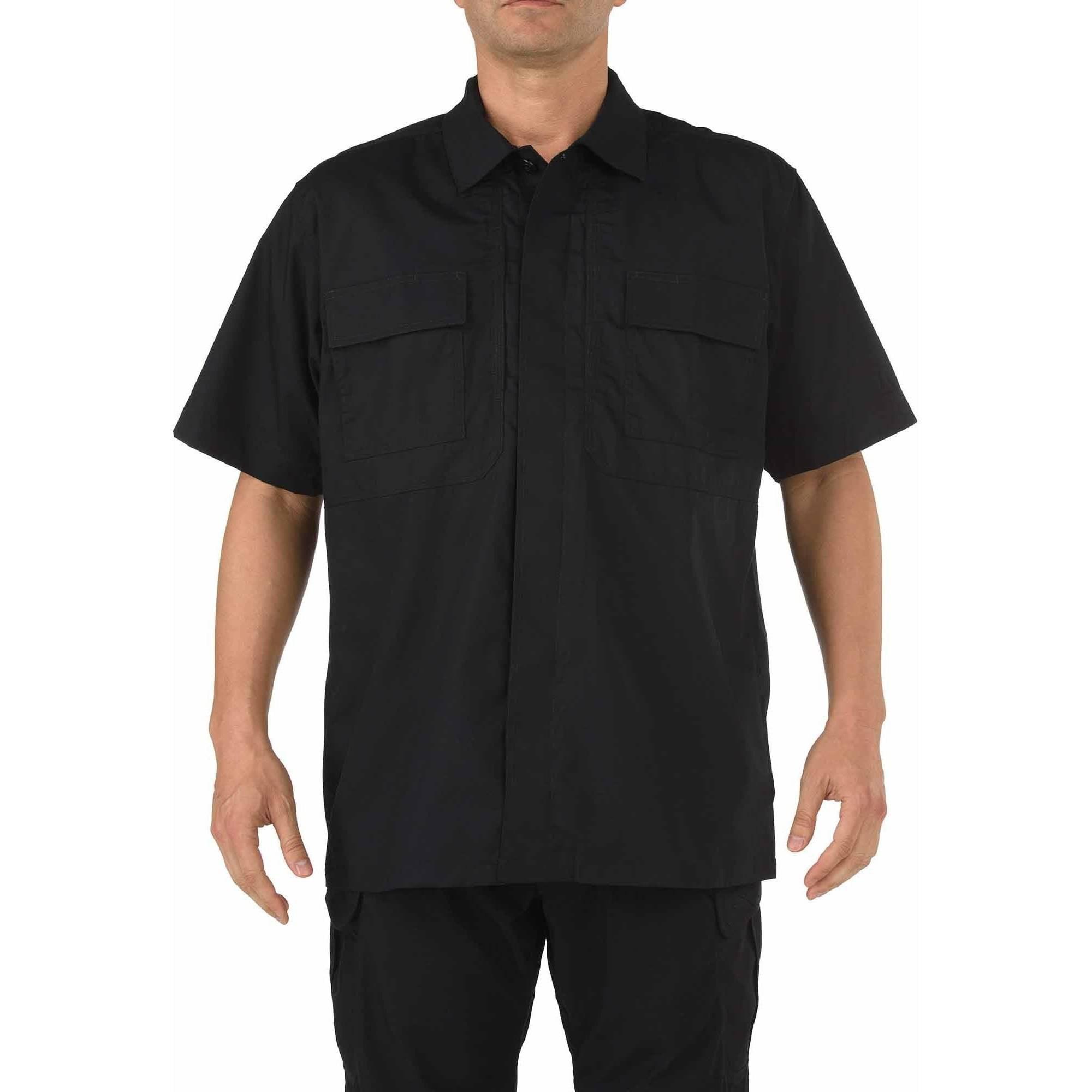 Taclite Short Sleeve TDU Shirt, Black