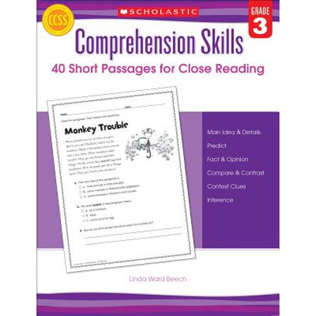Halloween Reading Comprehension Grade 3 (Comprehension Skills: Short Passages for Close Reading: Grade)