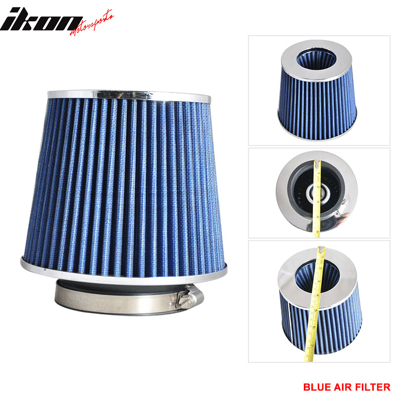 3.5Inch ID Race Performance Cold Air Intake Filter KN Type Blue Fits 88-12 Civic