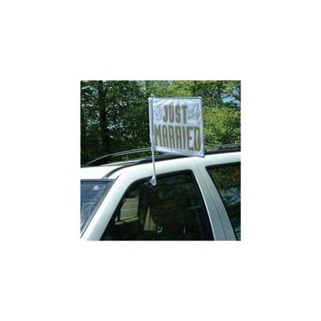 Amscan International Just Married Car Flag - Just Married Car Decorating Kit