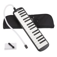 Glarry 32-Key Melodica with Mouthpiece & Hose & Bag Black