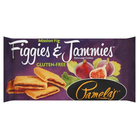 (2 Pack) Pamela's Mission Fig Figgies & Jammies, Gluten-Free Extra Large Cookies, 9 - Large Delicious Gourmet Cookies