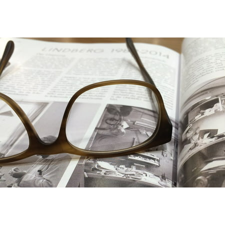Canvas Print Magazine Read Open Book Glasses Text Book Media Stretched Canvas 10 x 14 ()