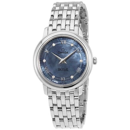 Omega De Ville Prestige Blue Mother of Pearl Ladies Watch 424.10.27.60.57.001