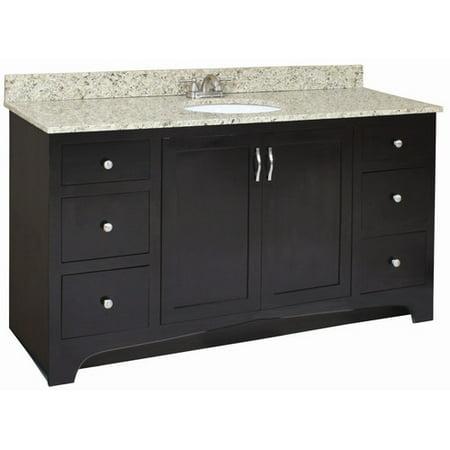 Design house ventura 60 39 39 bathroom vanity base for Bathroom cabinets ventura