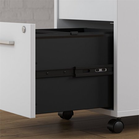 "BBF Method by Kathy Ireland 60"" L Desk with File Cabinet in White - image 2 de 7"
