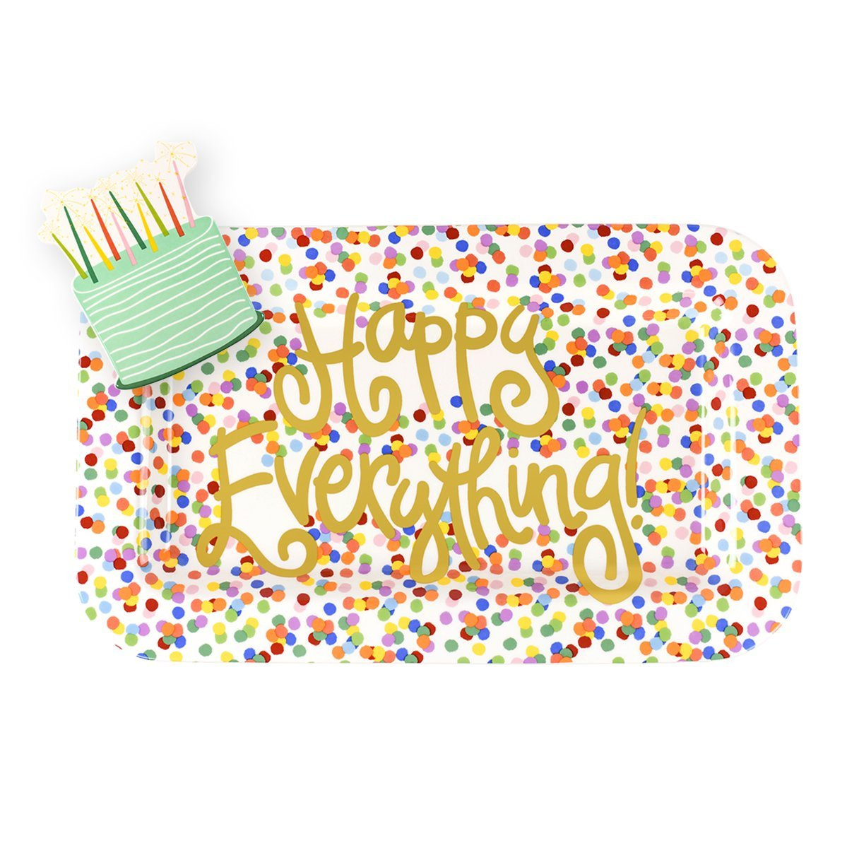 Coton Colors Happy Everything Mini Rectangle Platter