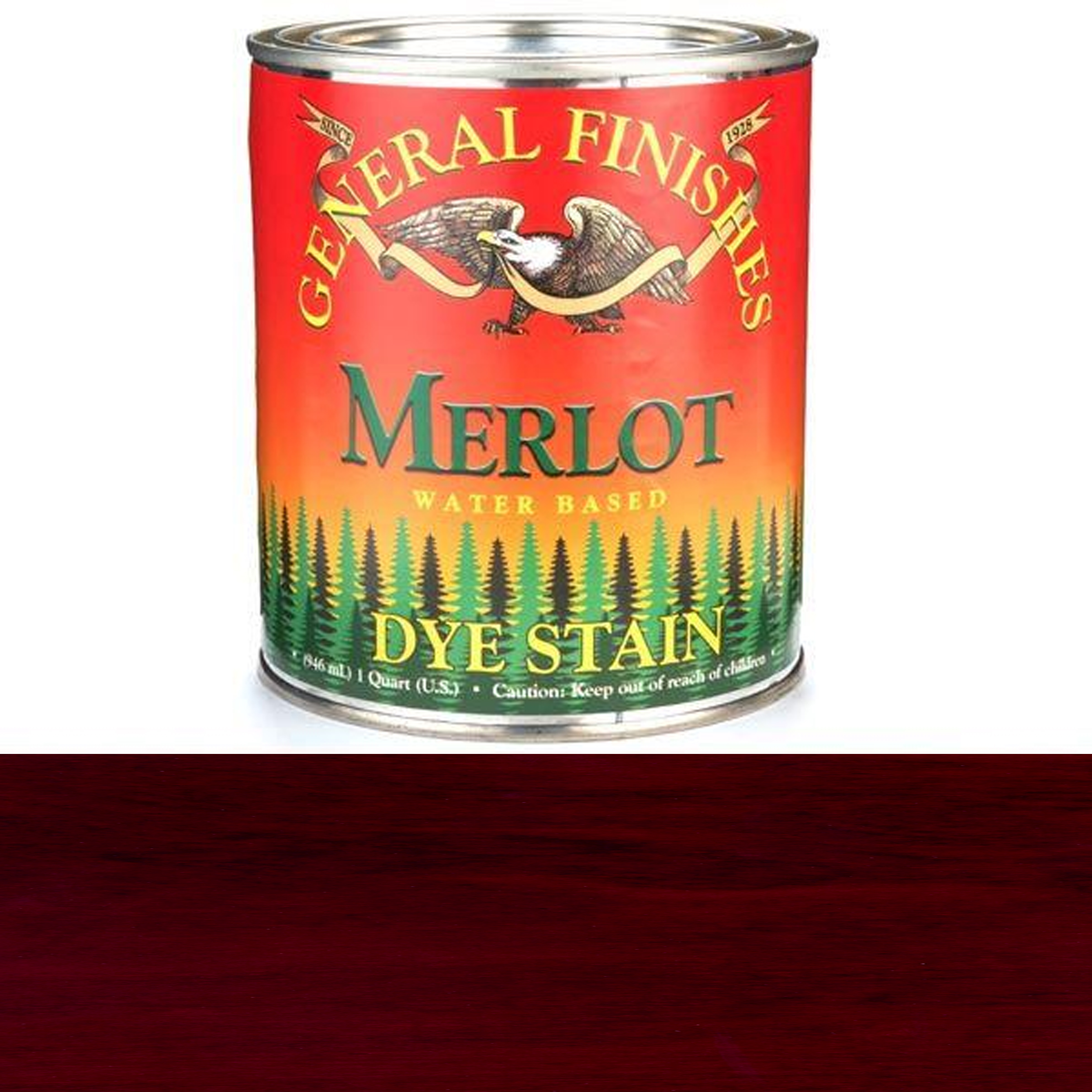 General Finishes, Water Based Dye, Merlot, Quart