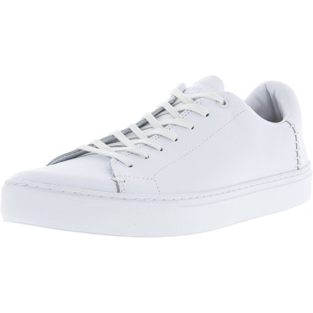Toms Men's Lenox Leather White Ankle-High Fashion Sneaker - 10M - Toms Leather Insole