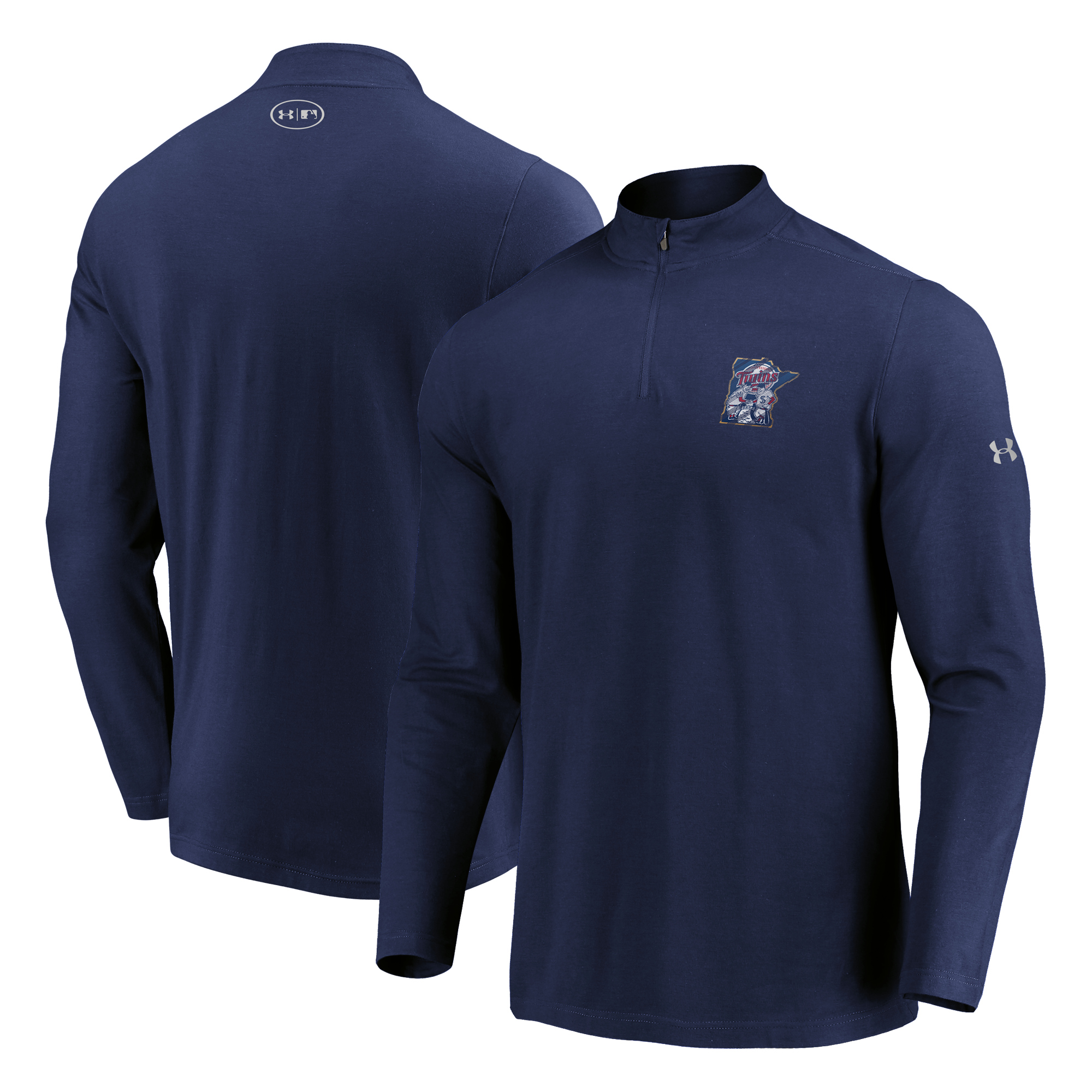 Minnesota Twins Under Armour Passion Alternate Left Chest 1/4-Zip Jacket - Navy