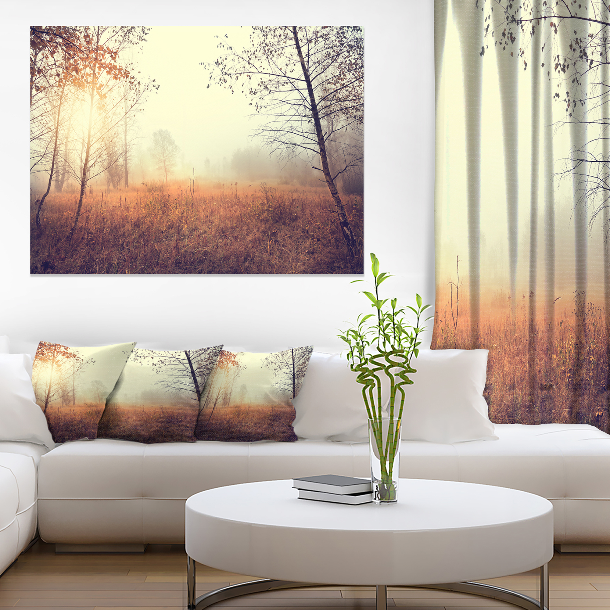 Beautiful natural landscape with trees extra large wall art landscape