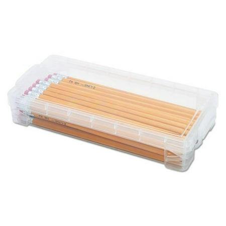 Advantus Corporation 40309 Super Stacker Pencil Box, Clear - 8.25 x 3.75 x 1.5 (Advantus Corporation Cropper Hopper)