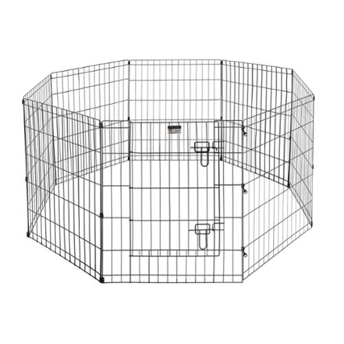 "Pet Trex Premium Quality 30"" Exercise Playpen for Dogs Eight 24"" x 30"" High Panels with Gate"