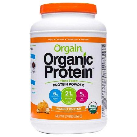 Orgain USDA Organic Plant-Based Protein Powder 2.74 Pound, Peanut (Best Organic Whey Protein Powder For Weight Loss)